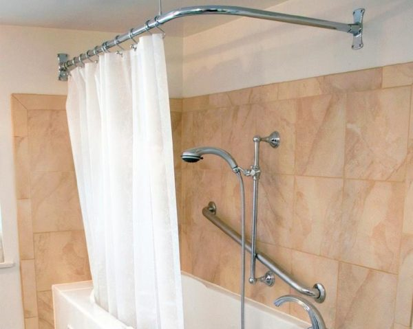 L-Rod Shower curtain and hooks